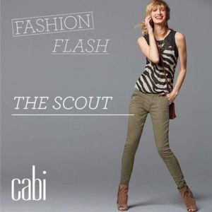 CAbi Scout Pant in army green. Size 0, NWT.